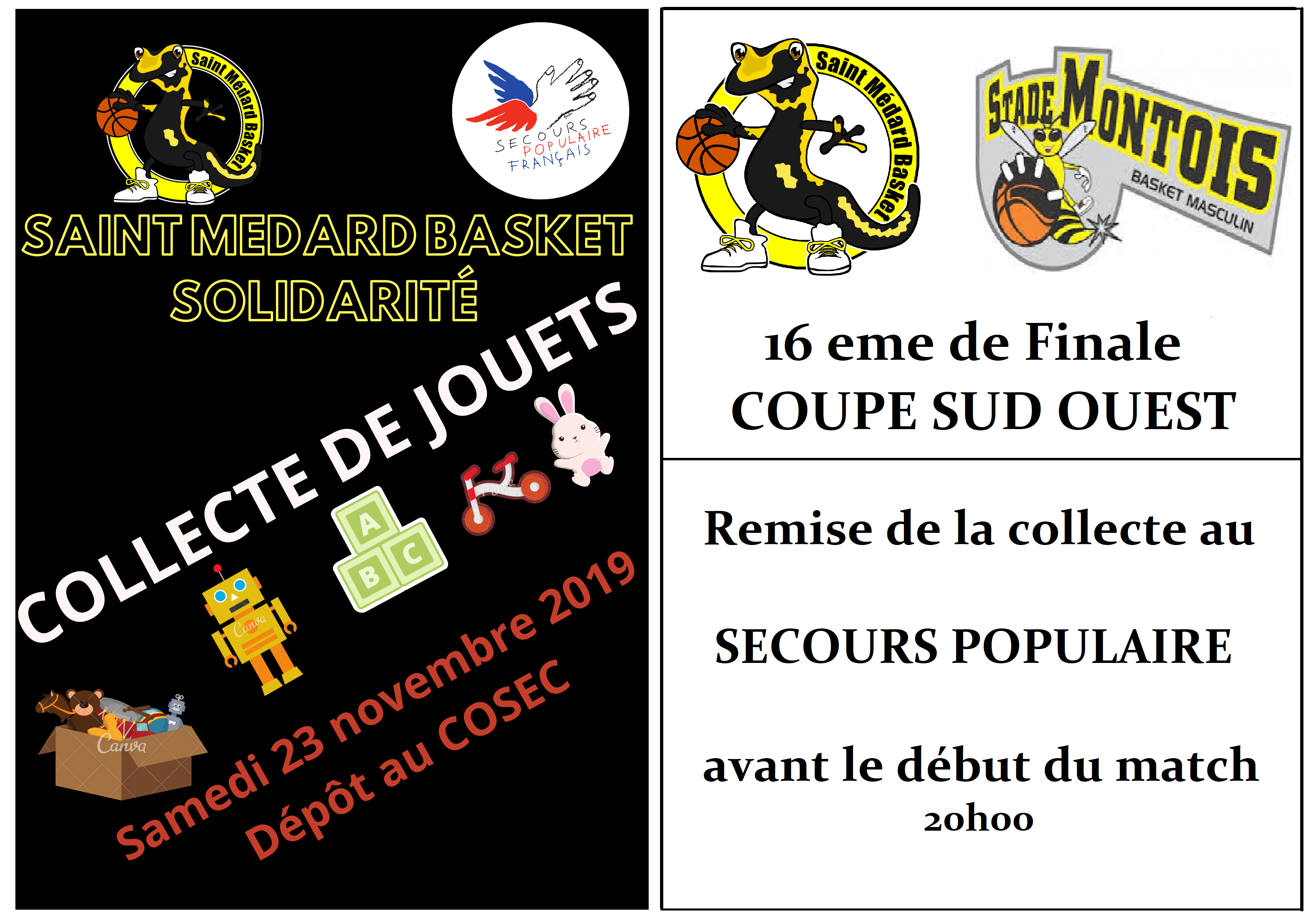 OPERATION SOLIDARITE 23 Novembre 2019